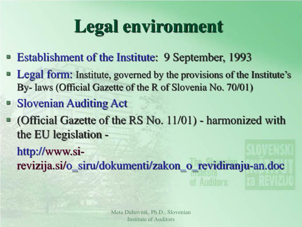 legal environment l.