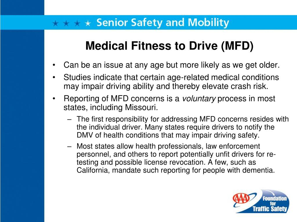 Medical Fitness to Drive (MFD)