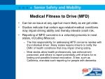 medical fitness to drive mfd