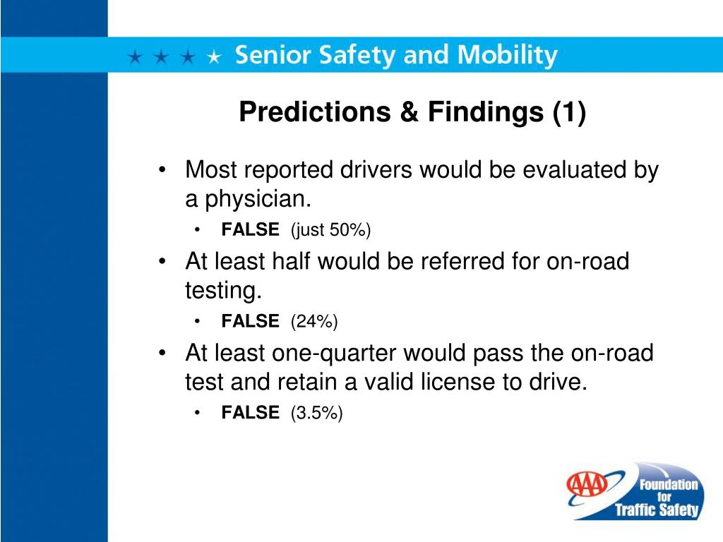 Predictions & Findings (1)
