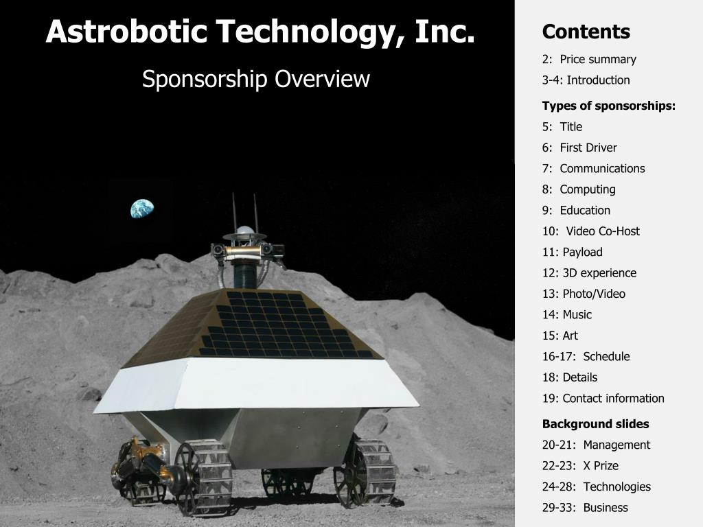 astrobotic technology inc l.