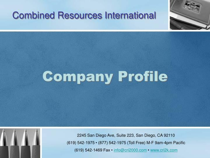 combined resources international n.