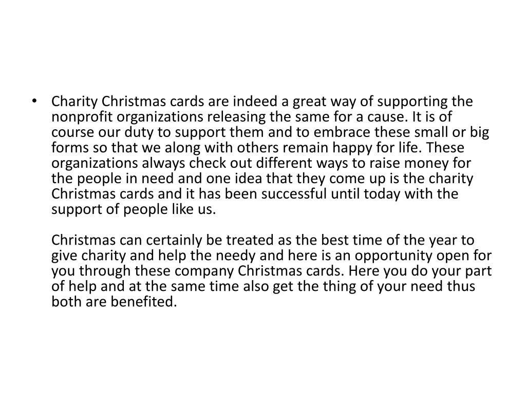 christmas cards for nonprofit organizations