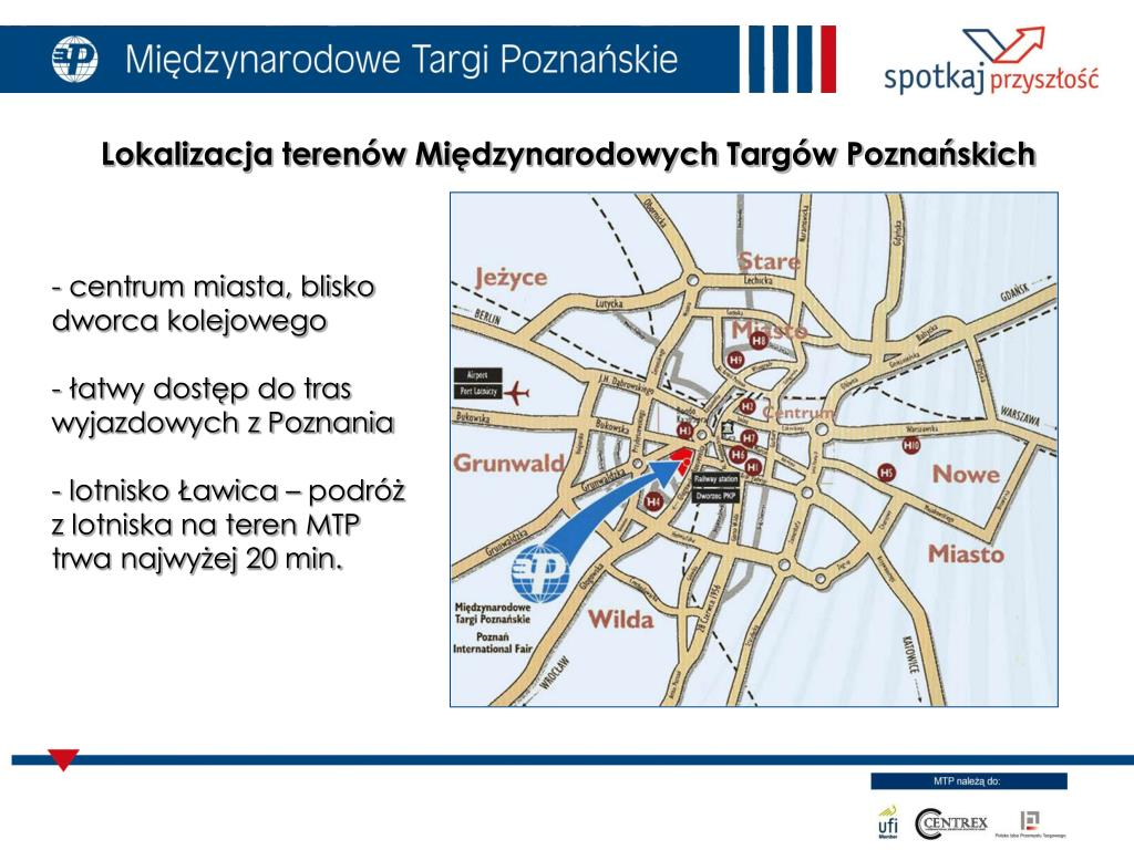 Lokalizacja terenów Międzynarodowych Targów Poznańskich