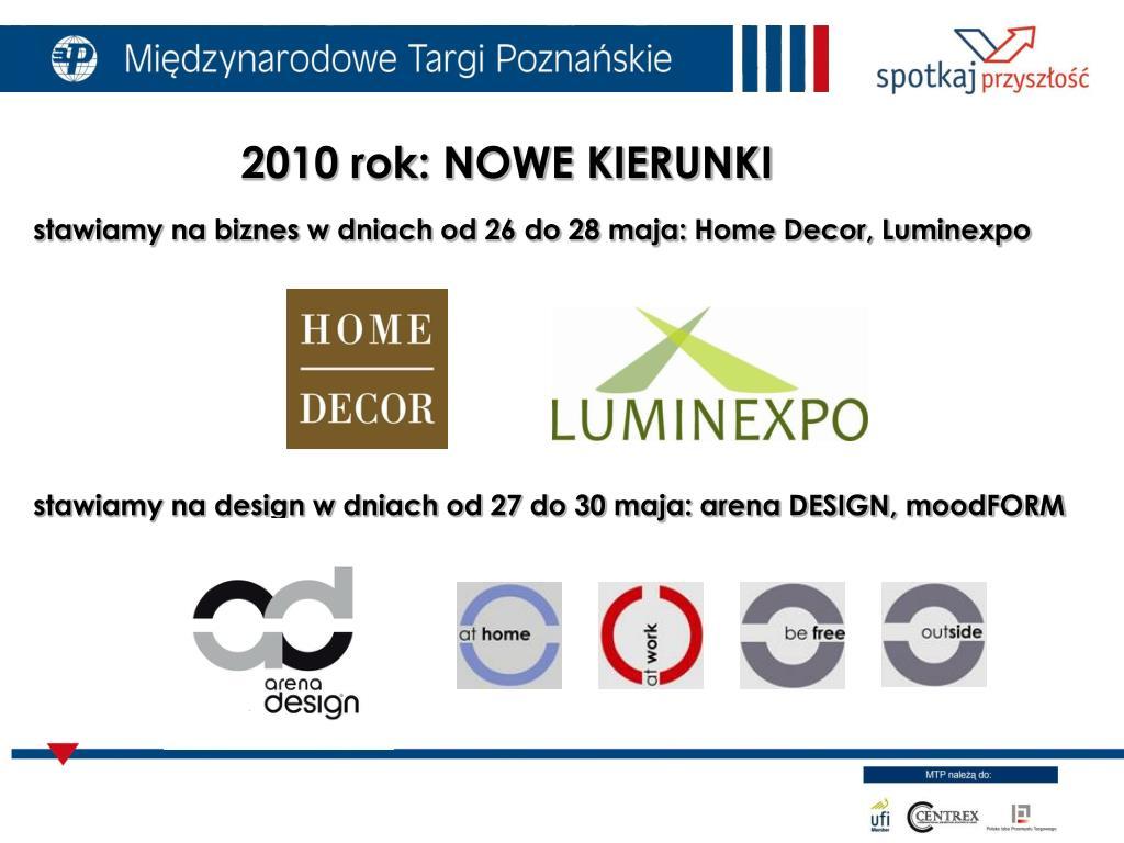 stawiamy na biznes w dniach od 26 do 28 maja: Home Decor, Luminexpo