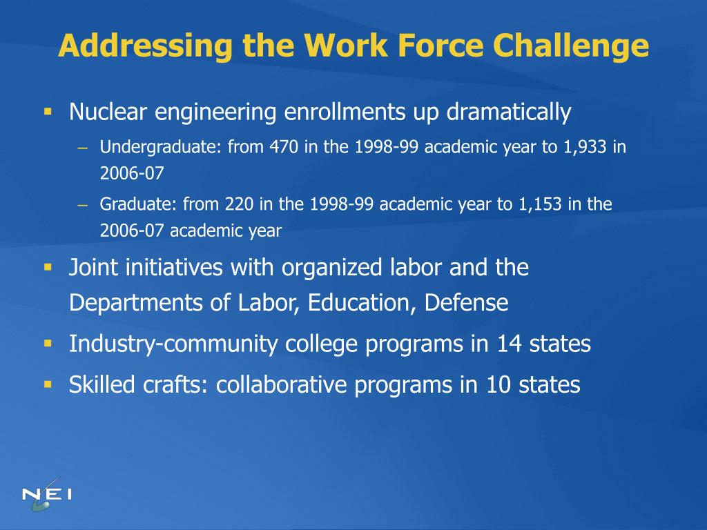 Addressing the Work Force Challenge