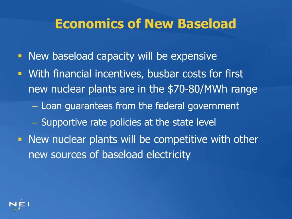 Economics of New Baseload