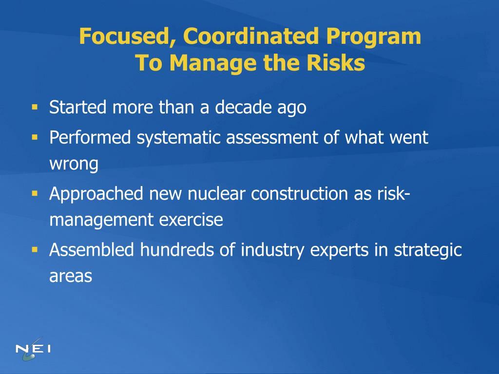 Focused, Coordinated Program