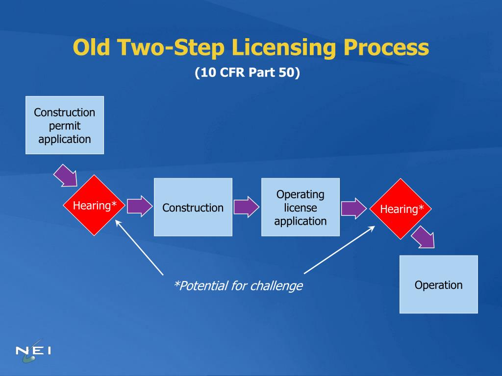 Old Two-Step Licensing Process