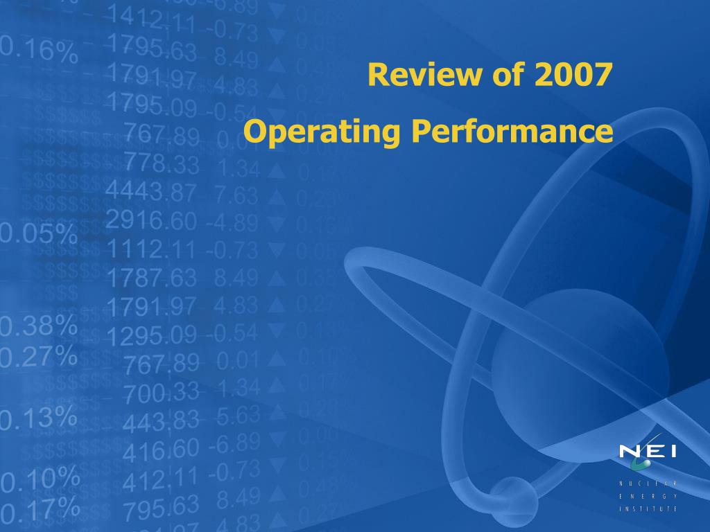Review of 2007