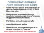 additional ma challenges agent marketing and selling