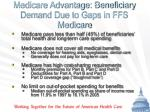 medicare advantage beneficiary demand due to gaps in ffs medicare