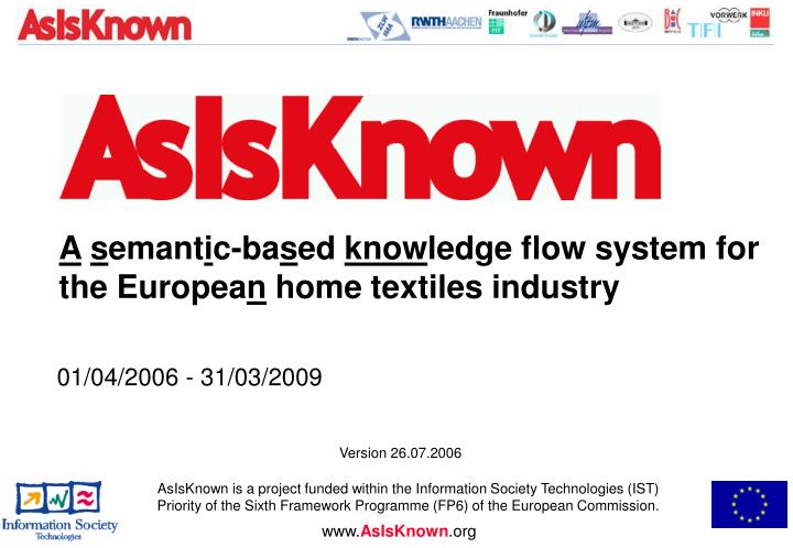 A semantic based knowledge flow system for the european home textiles industry