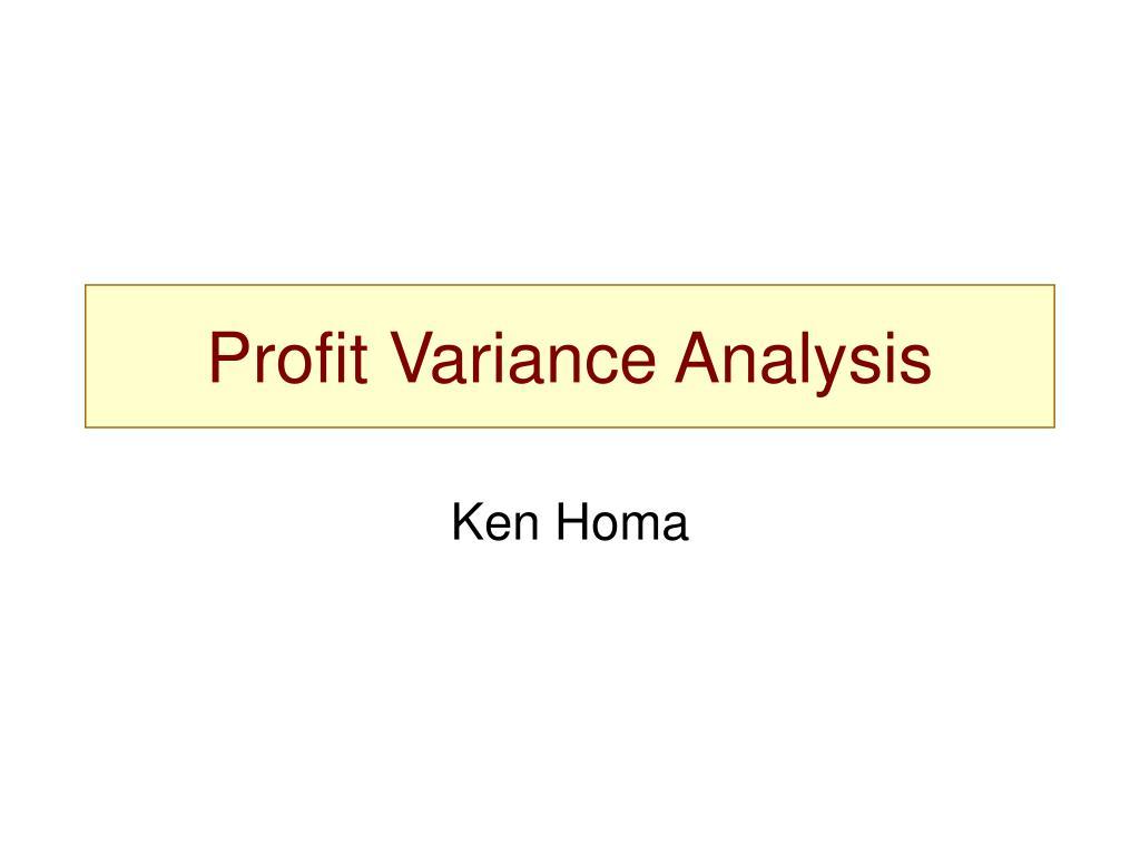 profit variance analysis l.