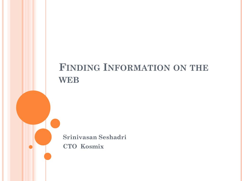 finding information on the web l.