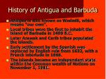 history of antigua and barbuda