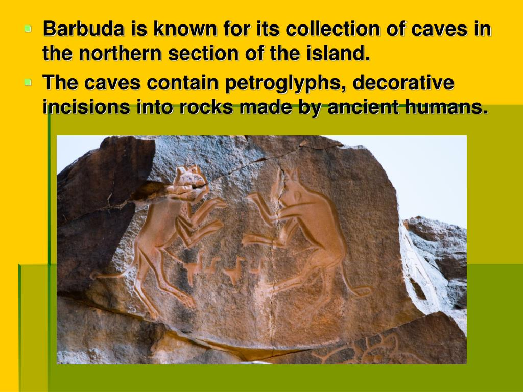 Barbuda is known for its collection of caves in the northern section of the island.