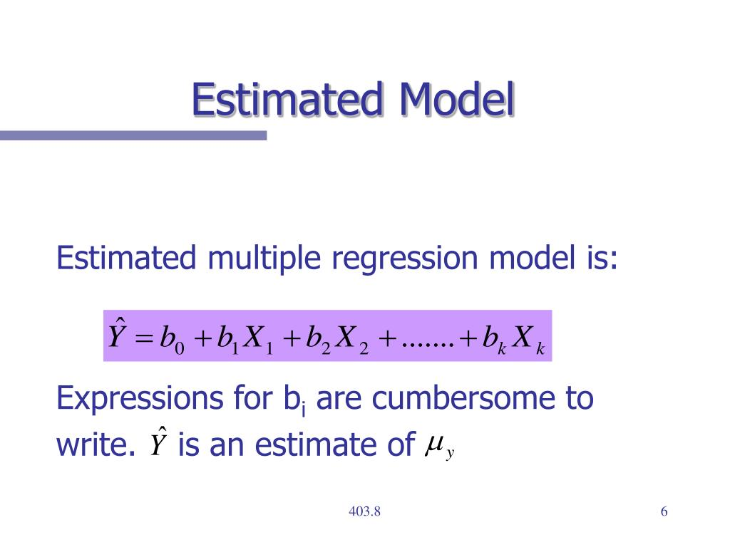 Estimated Model