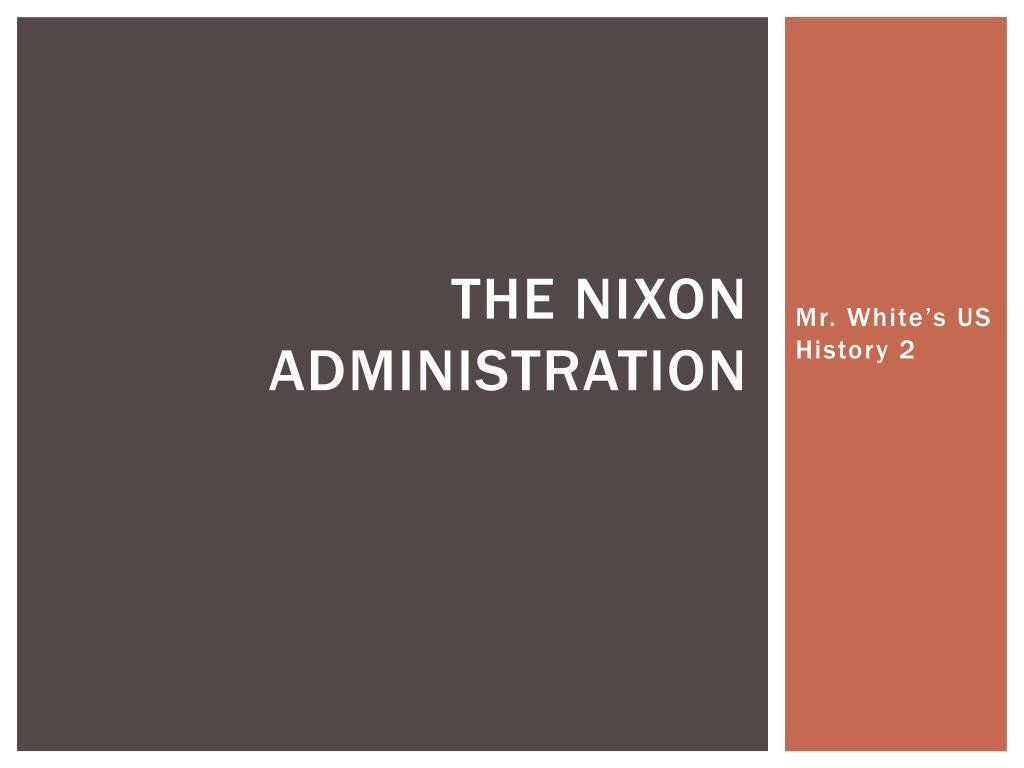 the nixon administration l.