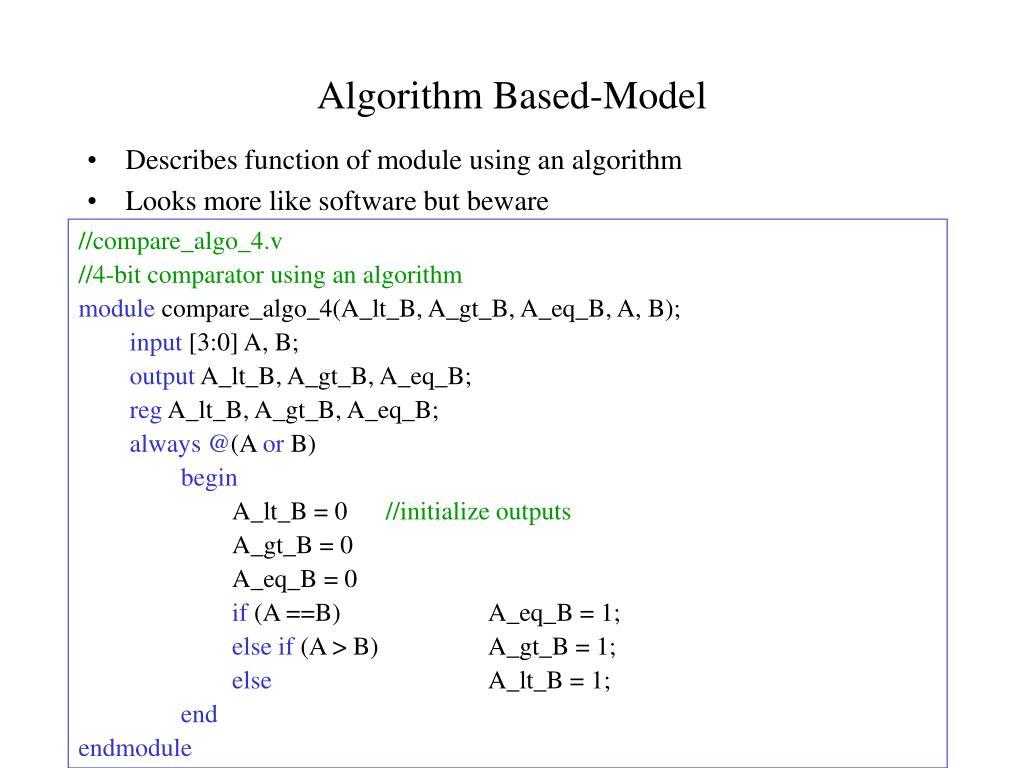 Algorithm Based-Model