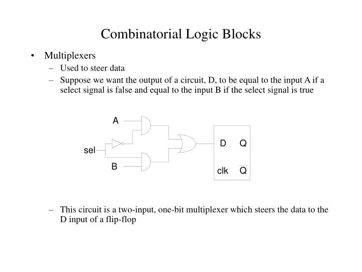 Combinatorial logic blocks