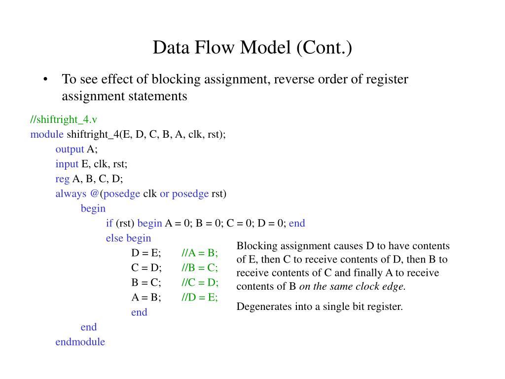 Data Flow Model (Cont.)