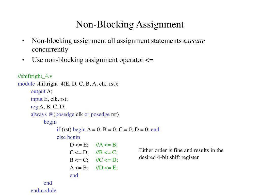 Non-Blocking Assignment
