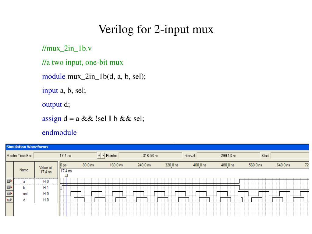Verilog for 2-input mux