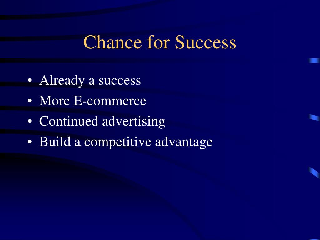 Chance for Success