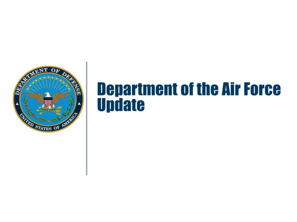 Department of the Air Force Update