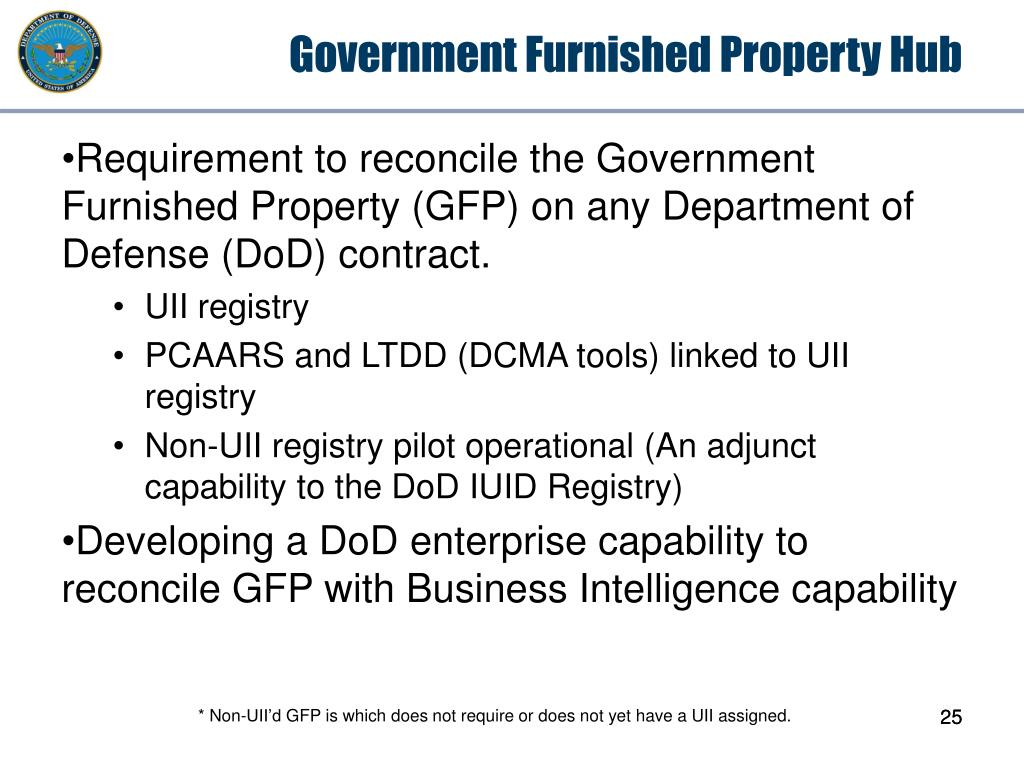 Government Furnished Property Hub
