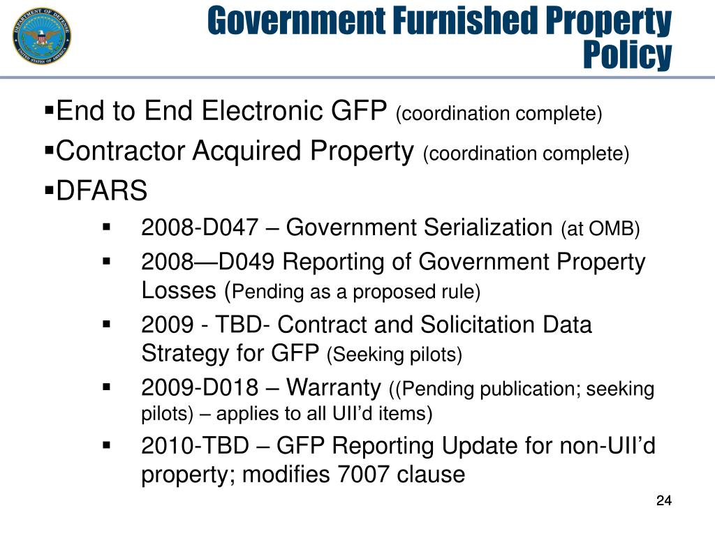 Government Furnished Property Policy