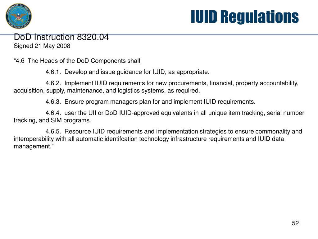 IUID Regulations