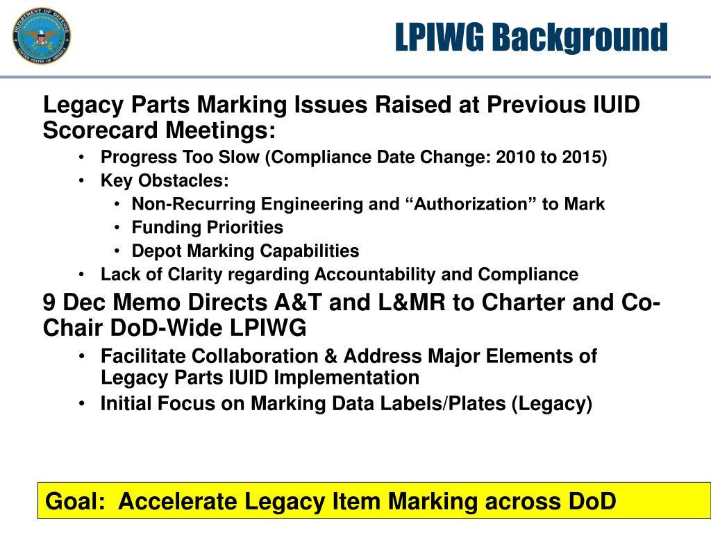 LPIWG Background
