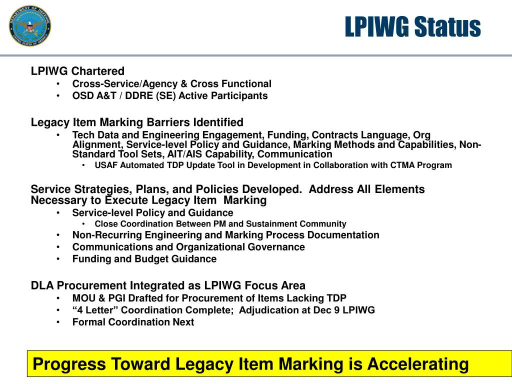 LPIWG Status
