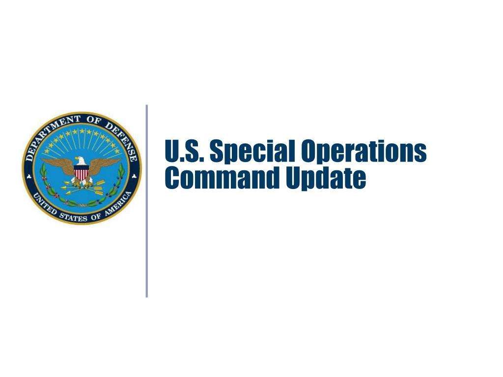 U.S. Special Operations Command Update