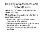 celebrity attractiveness and trustworthiness