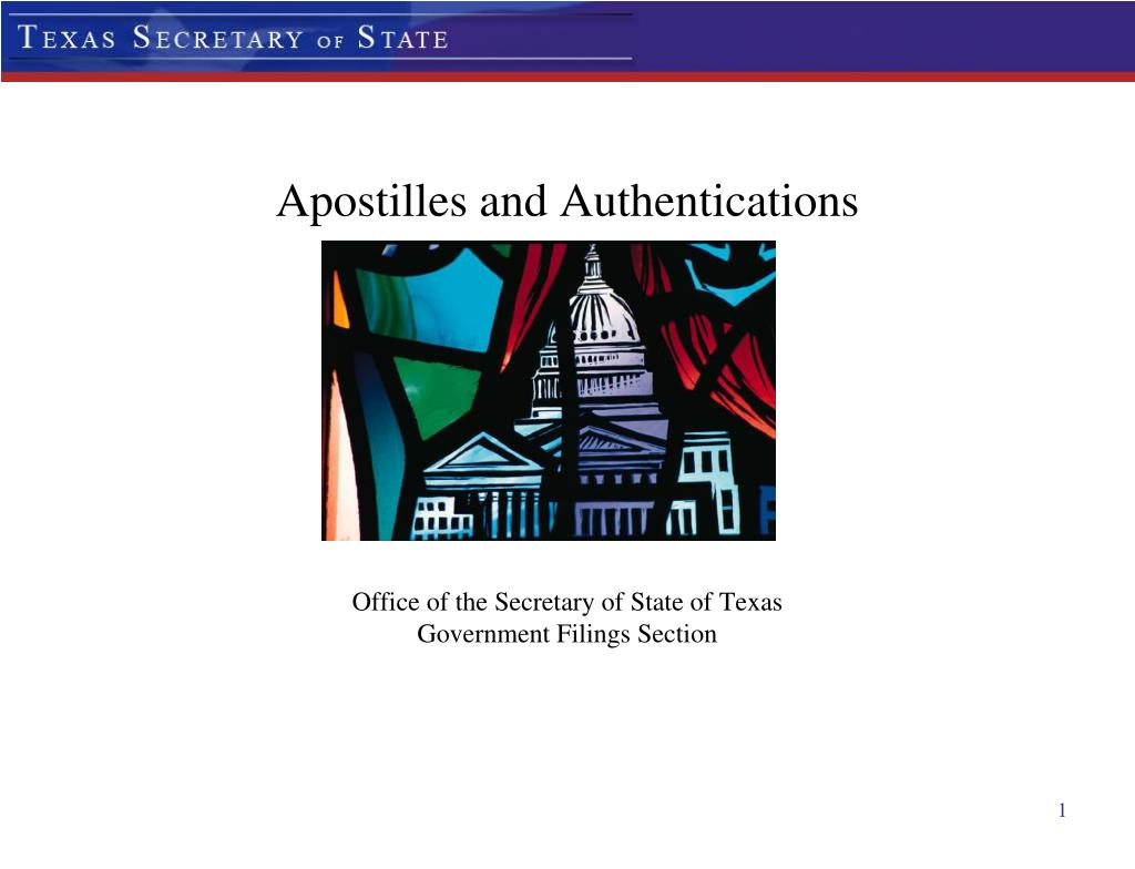 apostilles and authentications l.