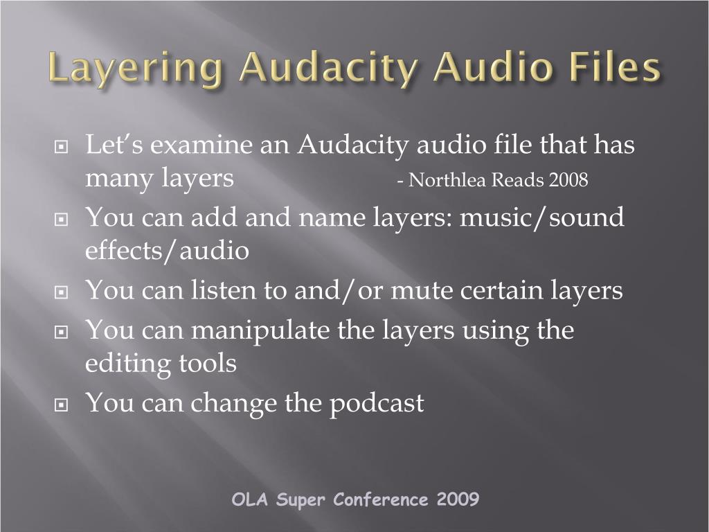 Layering Audacity Audio Files