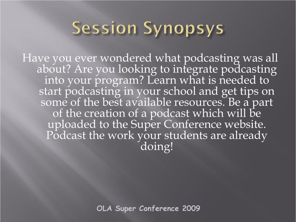 Session Synopsys
