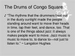the drums of congo square