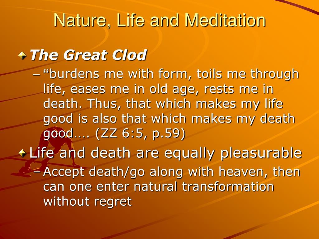 nature life and meditation l.