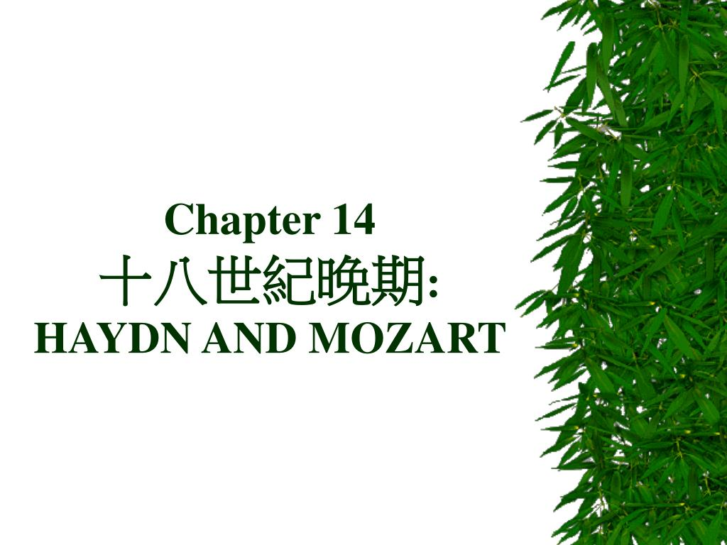 chapter 14 haydn and mozart l.