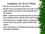 symphony no 92 in g major