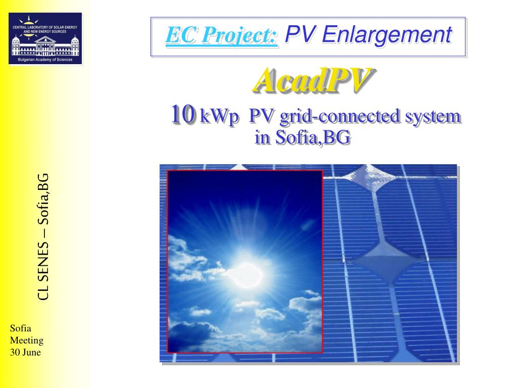 acadpv 10 kwp pv grid connected system in sofia bg l.
