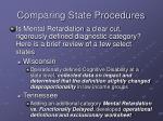 comparing state procedures