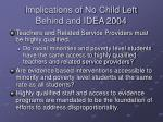implications of no child left behind and idea 2004
