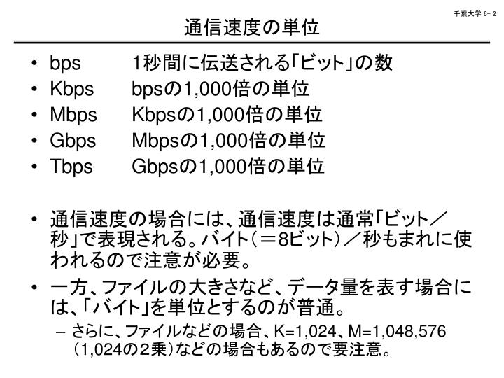 通信速度の単位
