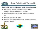 texas definition of renewable