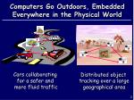 computers go outdoors embedded everywhere in the physical world